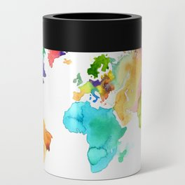 Watercolor World Can Cooler