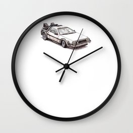 "Delorean - ""Roads?.. where we're going, we don't need roads."" - Doc Wall Clock"