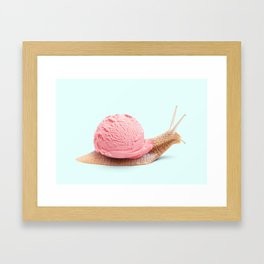 ICE SNAIL Framed Art Print