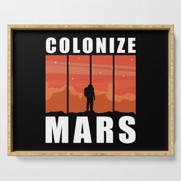 Mars Landing | Colonize Mars | Space Travel Gift Serving Tray