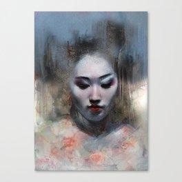 The ikebana woman Canvas Print