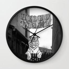 Hello Tiger Wall Clock