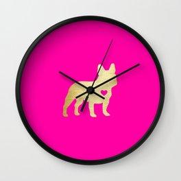 French Bulldog Gold Wall Clock