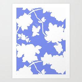 Chinoiserie Silhouette Blue Art Print