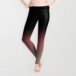 Ombre Black, Dusty Cedar, and Warm Taupe FALL 2016 PANTONE COLORS Leggings