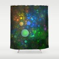 bath Shower Curtains featuring Bubble Bath by Lyle Hatch