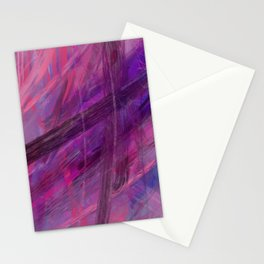 Positive vibes only - abstract painting Stationery Cards