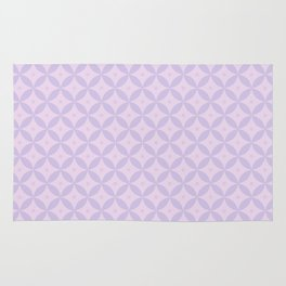 Abstract geometric pattern lavender Rug