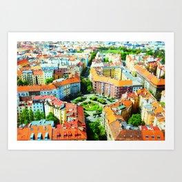 Roofs of Prague Art Print