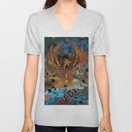 Rebirth of the Phoenix Unisex V-Neck