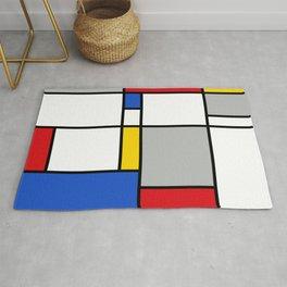Mondrian Style Color Composition Rug