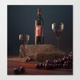 Wine n' Dine Canvas Print