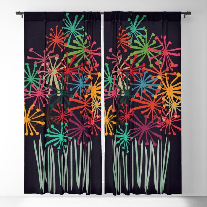 Flower Bouquet Blackout Curtain