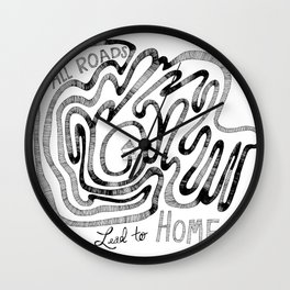 All Roads Lead to Home Wall Clock