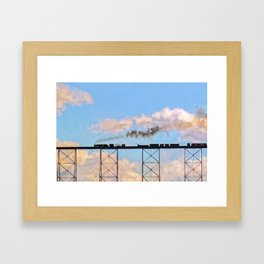 Choo Choo in the Clouds Framed Art Print