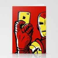 stark Stationery Cards featuring Stark #Selfie by Butcher Billy