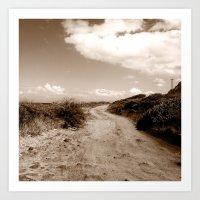 The path less traveled. Art Print