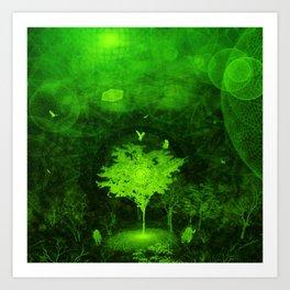 Flow. (Green Version) Art Print