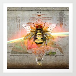 THE FLIGHT OF THE BUMBLE BEE (The Sign of Life Collection) Art Print