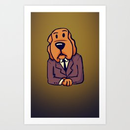 Dog News Art Print