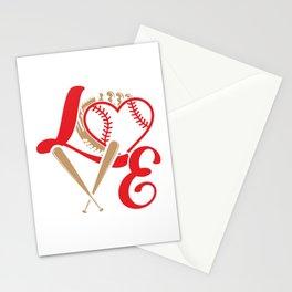 Baseball Lovers Softball Mom Fan Gift Stationery Cards