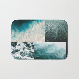 Ocean Waves Aesthetic Collage Bath Mat