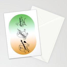 Keytar Platypus Venn Diagram Mexican Flag Stationery Cards