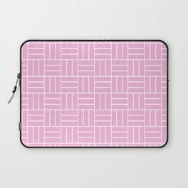 Basketweave (White & Pink Pattern) Laptop Sleeve