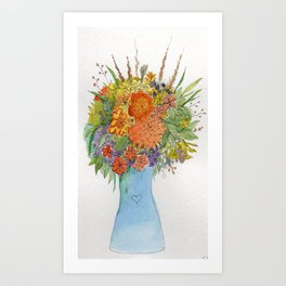 Flowers for Diane Art Print