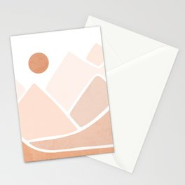 Neutral mountain peaks Stationery Cards