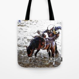 The Dismount   -   Rodeo Cowboy Tote Bag