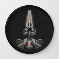 sith Wall Clocks featuring Sith Infiltrator  by IX Studio