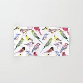 Watercolor spring birds Hand & Bath Towel