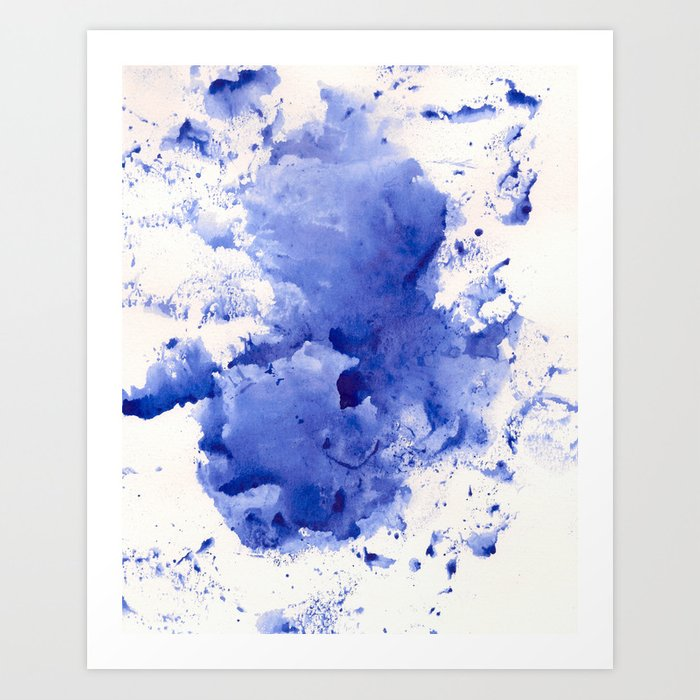 Blue Splotch Art Print