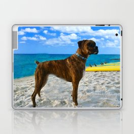 BOXER DOG SURFER BEACH BUM AND FRIEND Laptop & iPad Skin