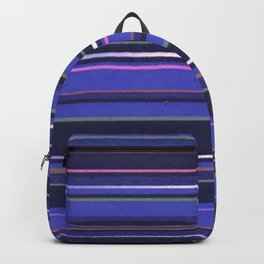 Blue-Purple Striped Pattern Backpack