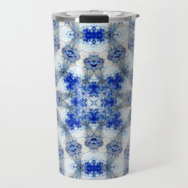 Azurite with a geometric kaleidoscopic design Travel Mug