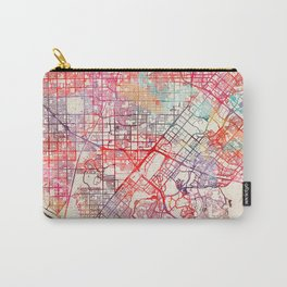 Santa Ana map California painting Carry-All Pouch
