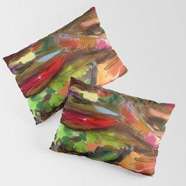 Hamburger Rainbow Pillow Sham