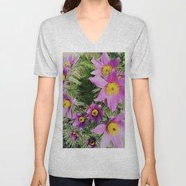pasque-flower Unisex V-Neck