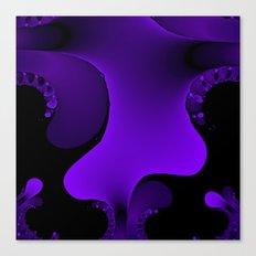 Purple Rain Fractal Canvas Print