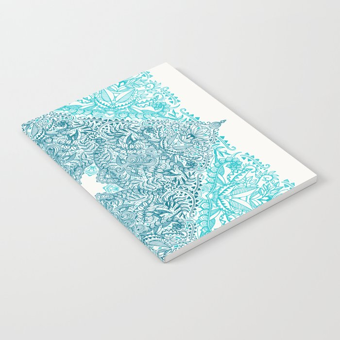 Teal Tangle Square Notebook