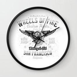 Wheels Of Fire Motorcycle Club Wall Clock