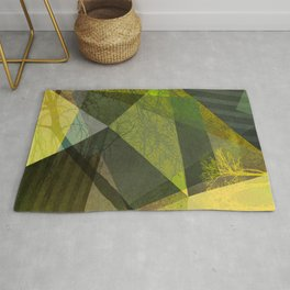 P24-2b Trees and Triangles Rug