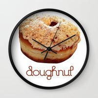 doughnut Wall Clocks featuring Doughnut by lumvina
