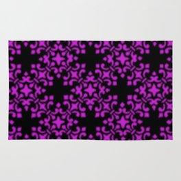 Dazzling Violet Vintage Brocade Damask Rug