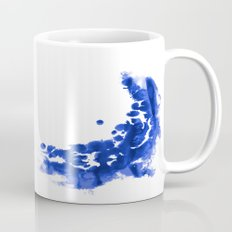 Paint 9 abstract indigo watercolor painting minimal modern canvas affordable dorm college art  Mug