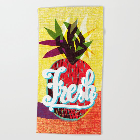 fresh flash Beach Towel