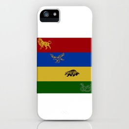 Lion, Eagle, Badger, Snake iPhone Case