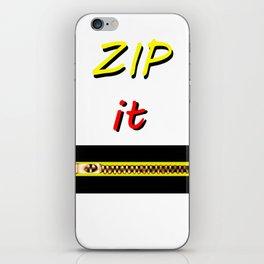 Zip it Black Yellow Red jGibney The MUSEUM Gifts iPhone Skin